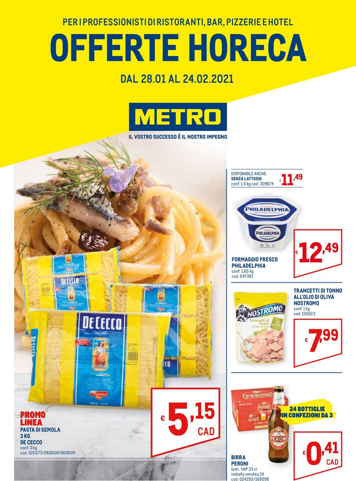 Volantino Metro - Offerte 28/01-24/02/2021