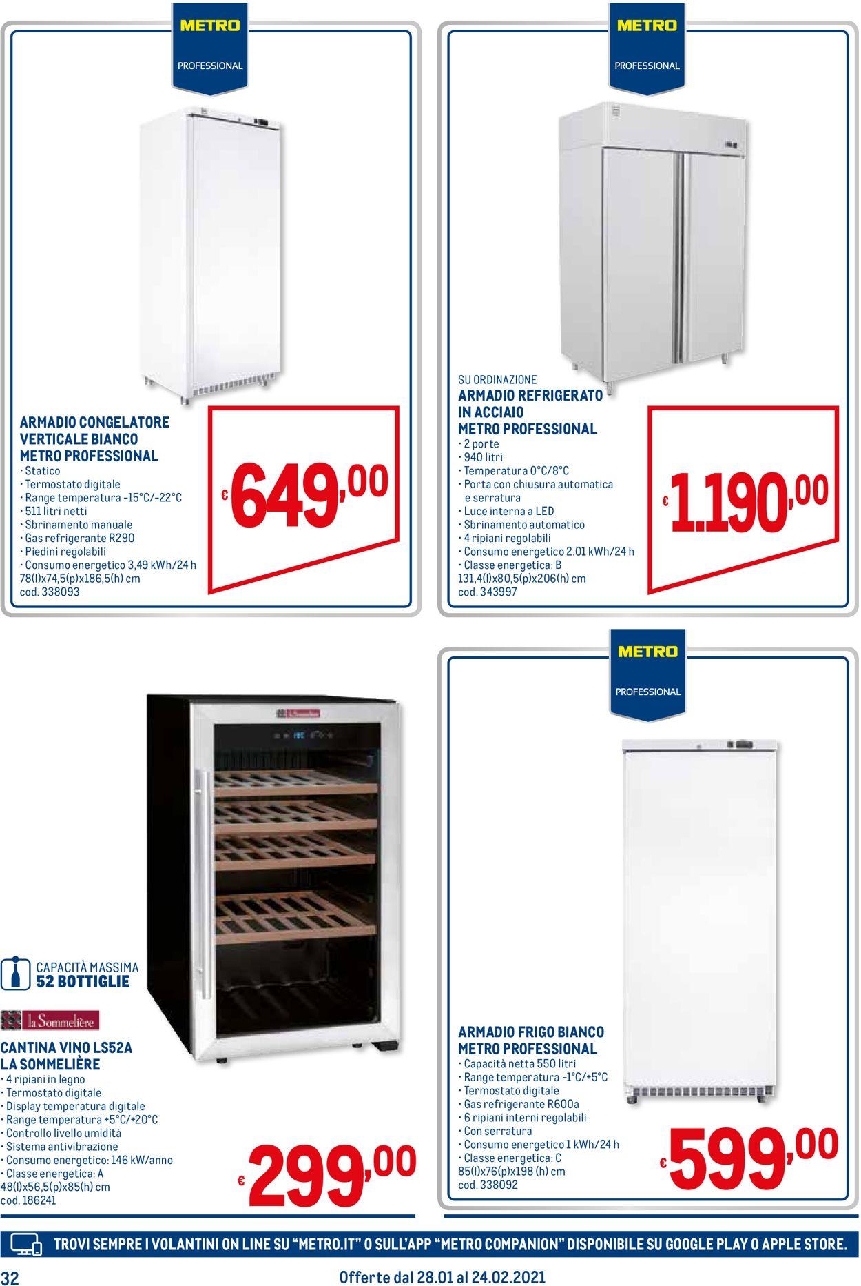 Volantino Metro - Offerte 28/01-24/02/2021 (Pagina 32)