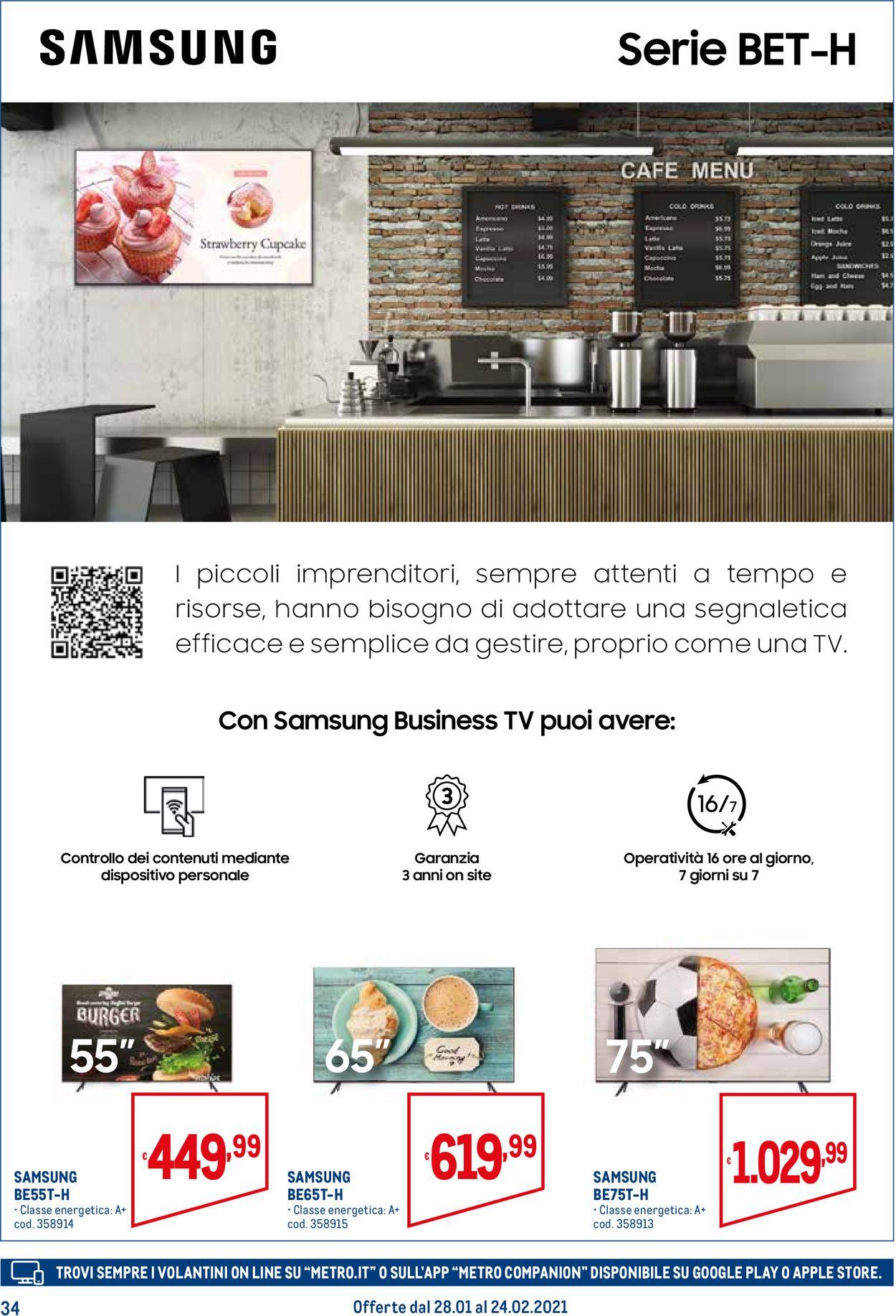Volantino Metro - Offerte 28/01-24/02/2021 (Pagina 34)