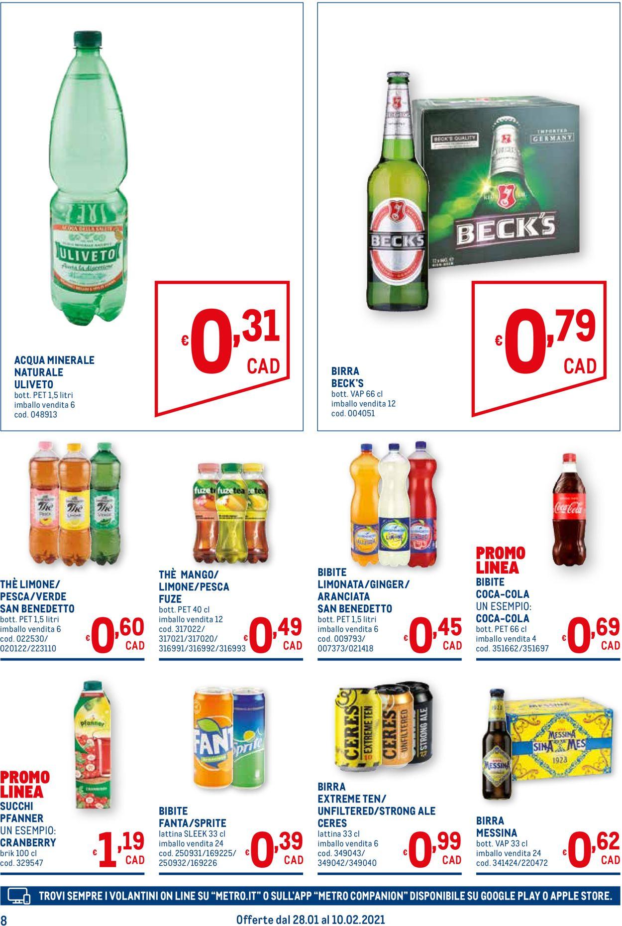 Volantino Metro - Offerte 28/01-10/02/2021 (Pagina 8)