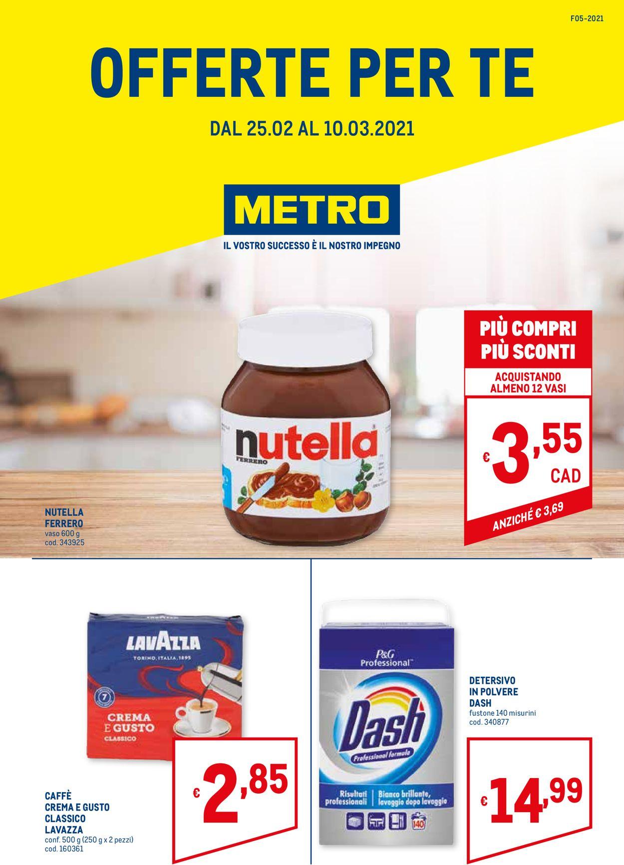 Volantino Metro - Offerte 25/02-10/03/2021