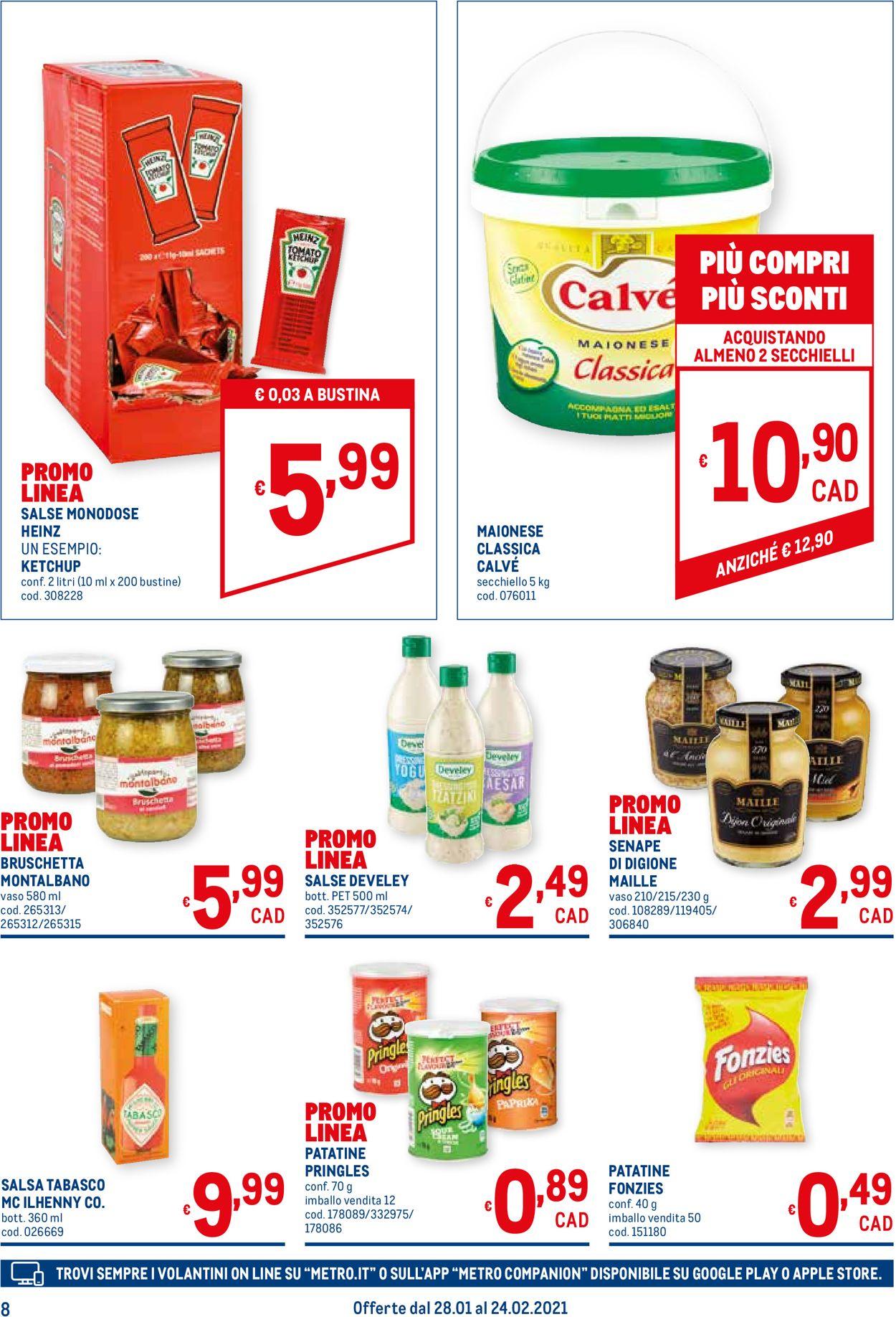 Volantino Metro - Offerte 28/01-24/02/2021 (Pagina 8)