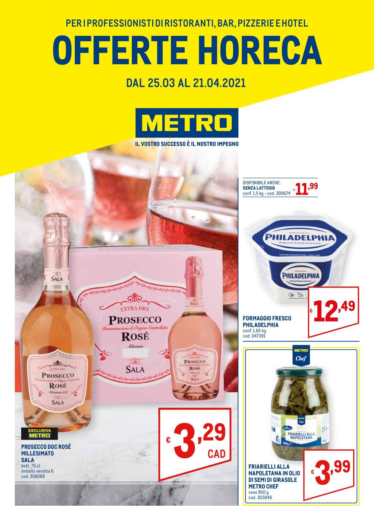 Volantino Metro - Offerte 25/03-21/04/2021