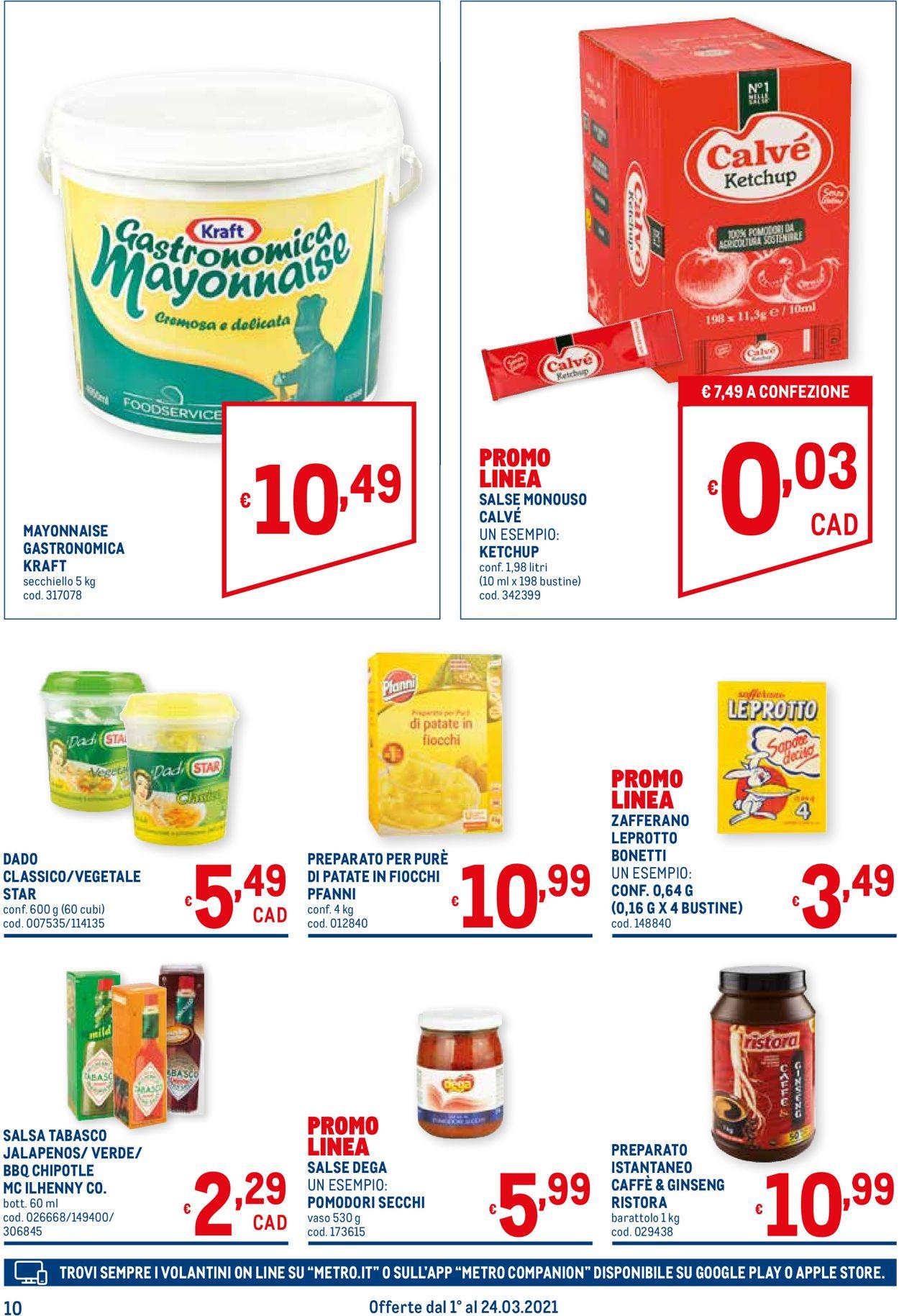 Volantino Metro - Offerte 01/03-24/03/2021 (Pagina 10)