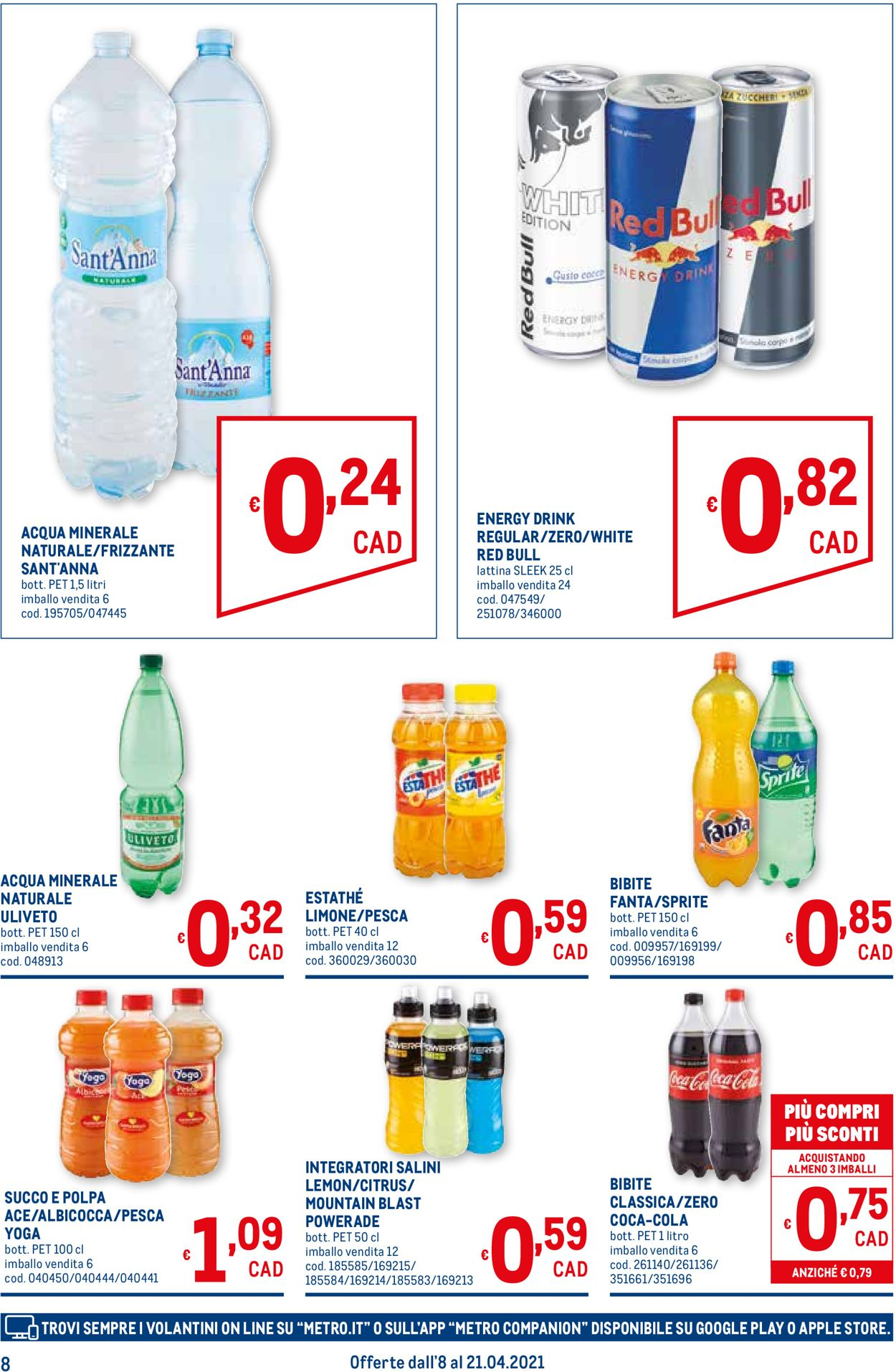 Volantino Metro - Offerte 08/04-21/04/2021 (Pagina 8)