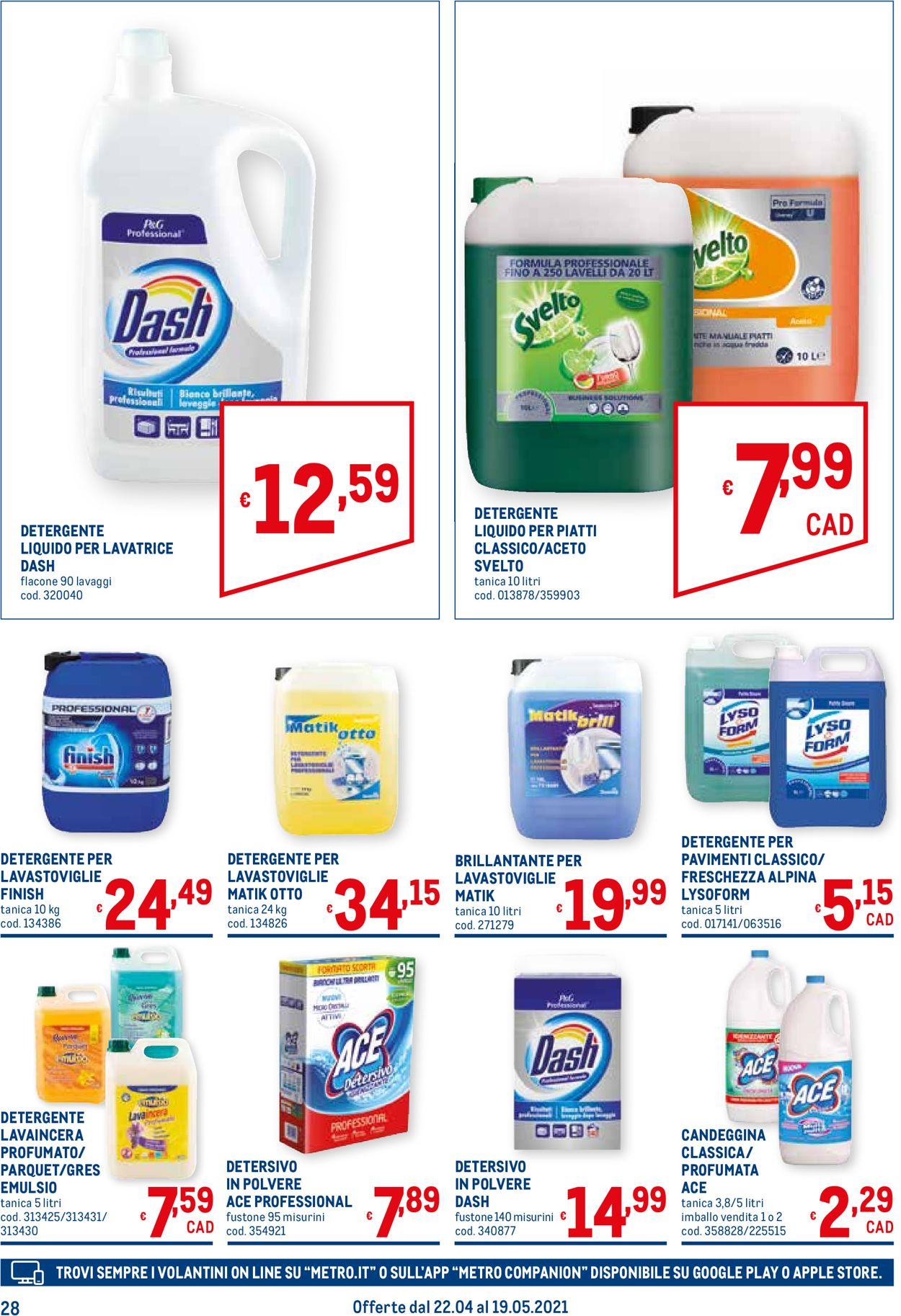Volantino Metro - Offerte 22/04-19/05/2021 (Pagina 28)