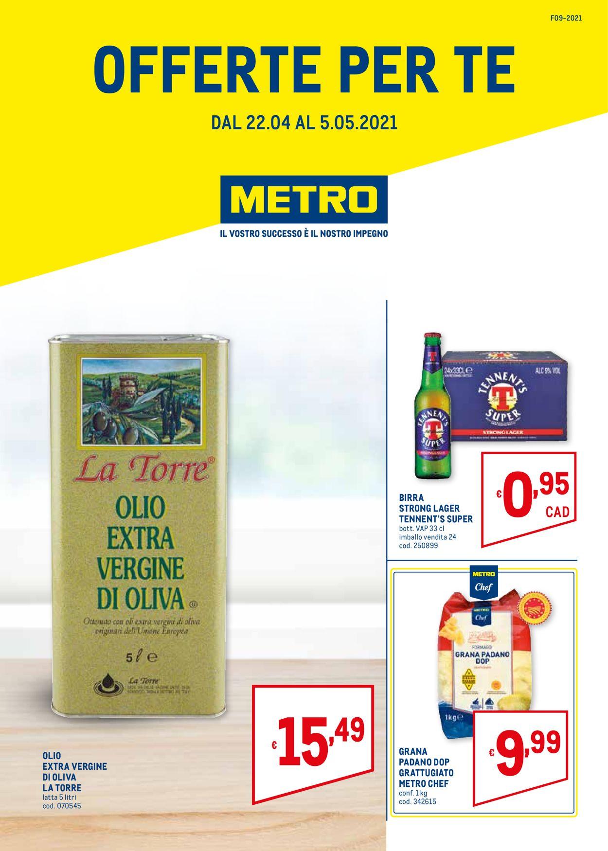 Volantino Metro - Offerte 22/04-05/05/2021