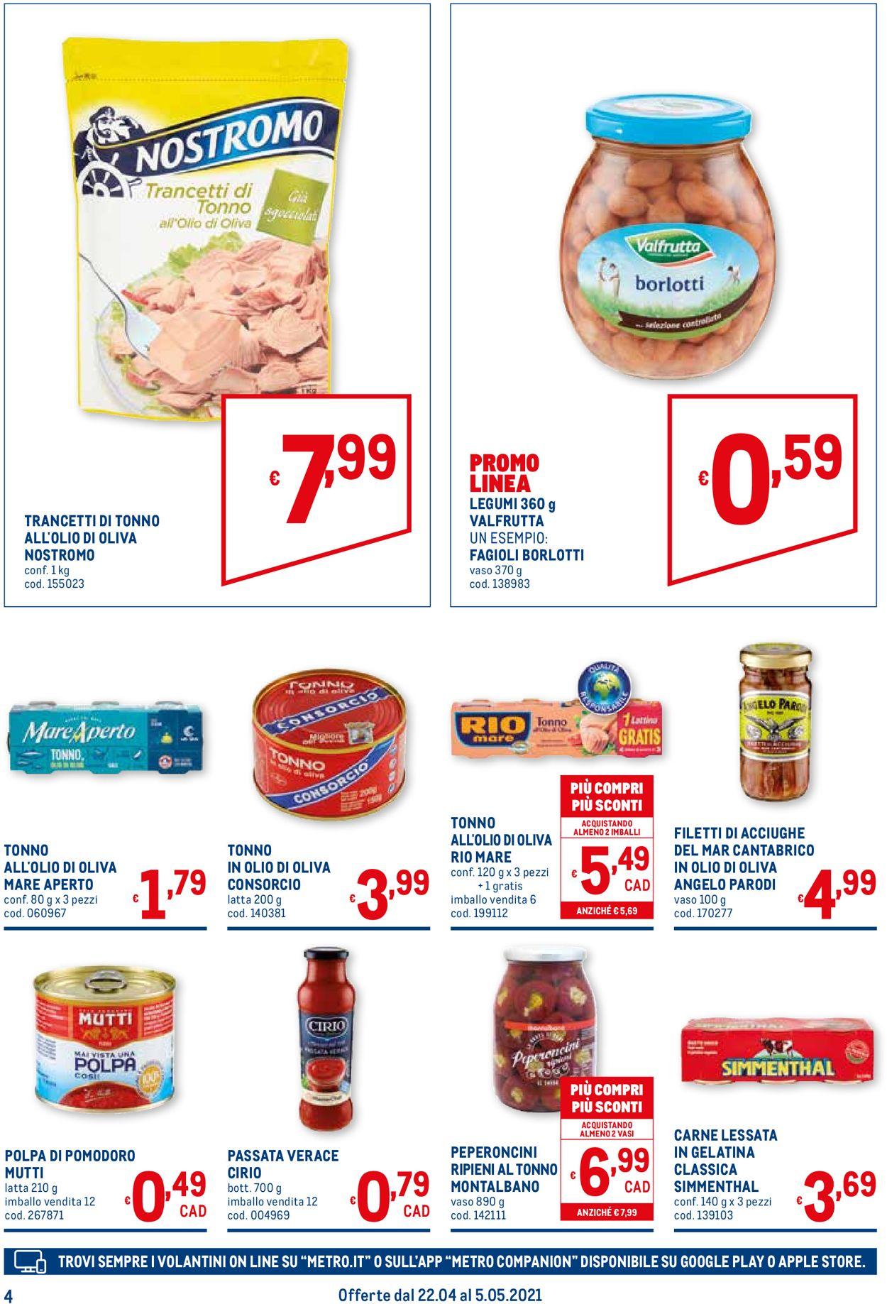 Volantino Metro - Offerte 22/04-05/05/2021 (Pagina 4)