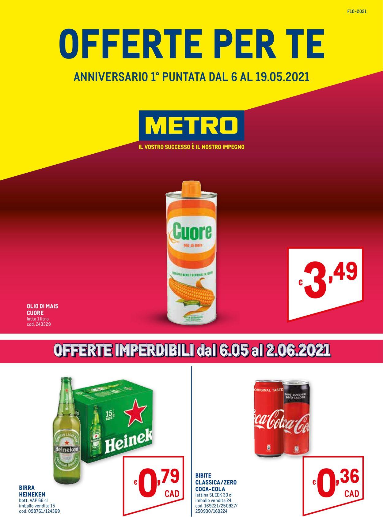 Volantino Metro - Offerte 06/05-19/05/2021