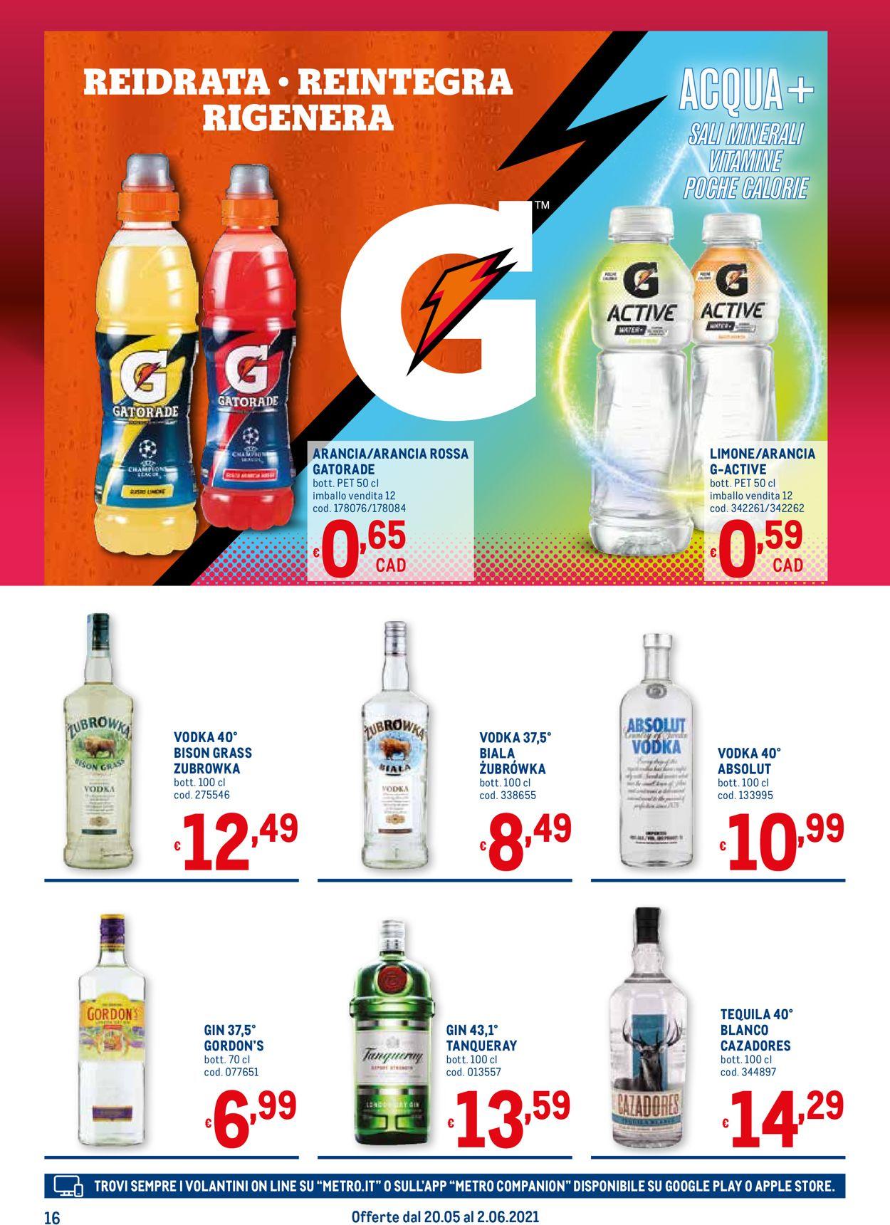 Volantino Metro - Offerte 20/05-02/06/2021 (Pagina 16)