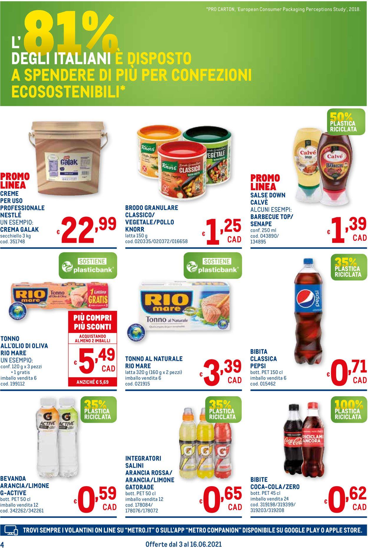 Volantino Metro - Offerte 03/06-16/06/2021 (Pagina 4)