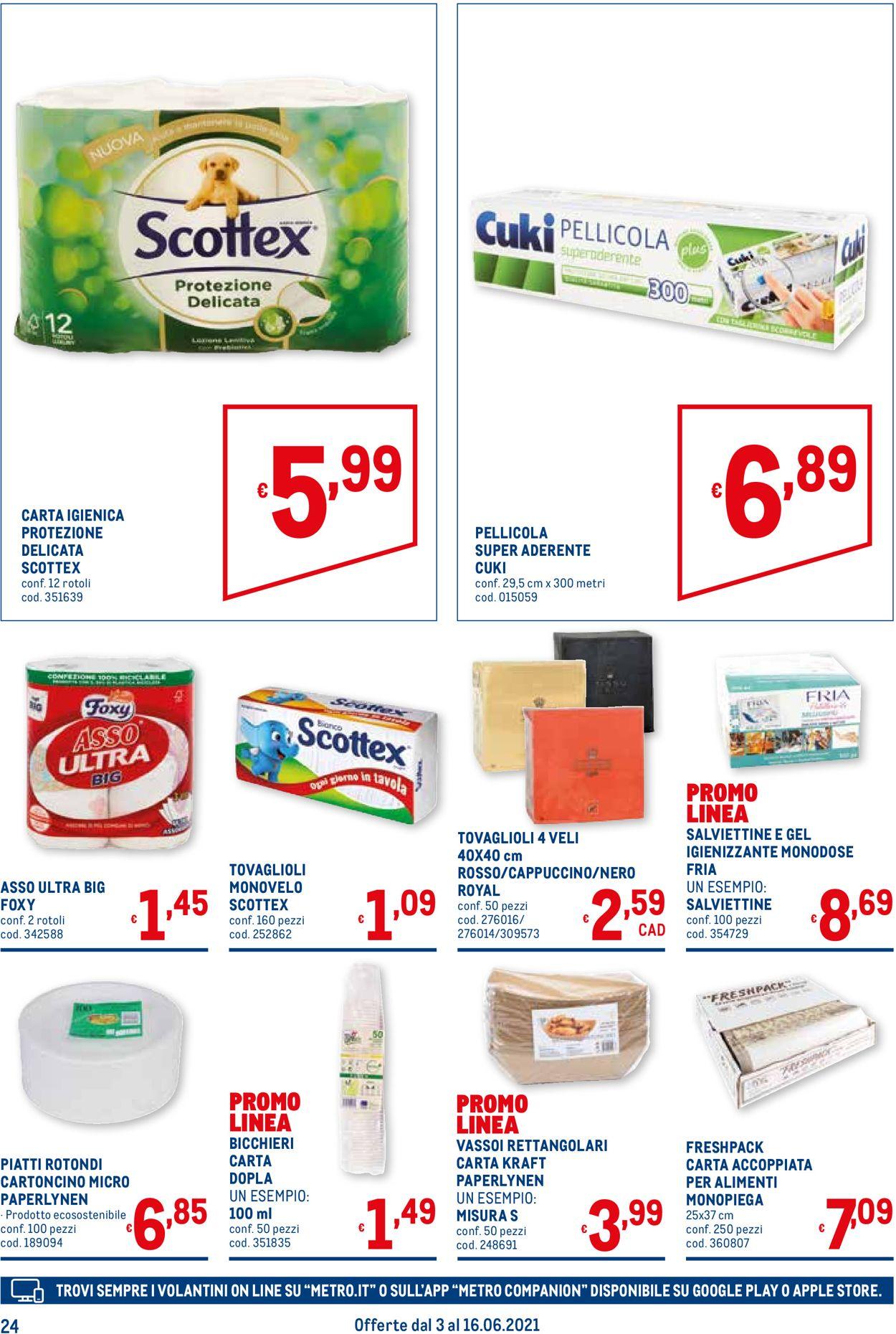 Volantino Metro - Offerte 03/06-16/06/2021 (Pagina 24)