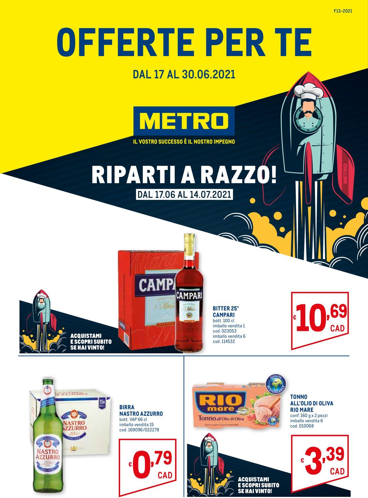 Volantino Metro - Offerte 17/06-30/06/2021