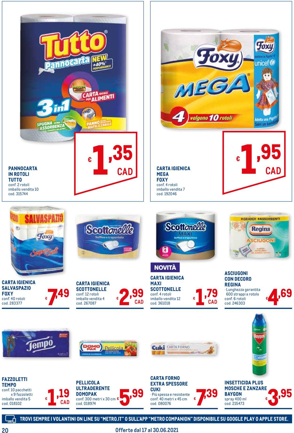 Volantino Metro - Offerte 17/06-30/06/2021 (Pagina 20)