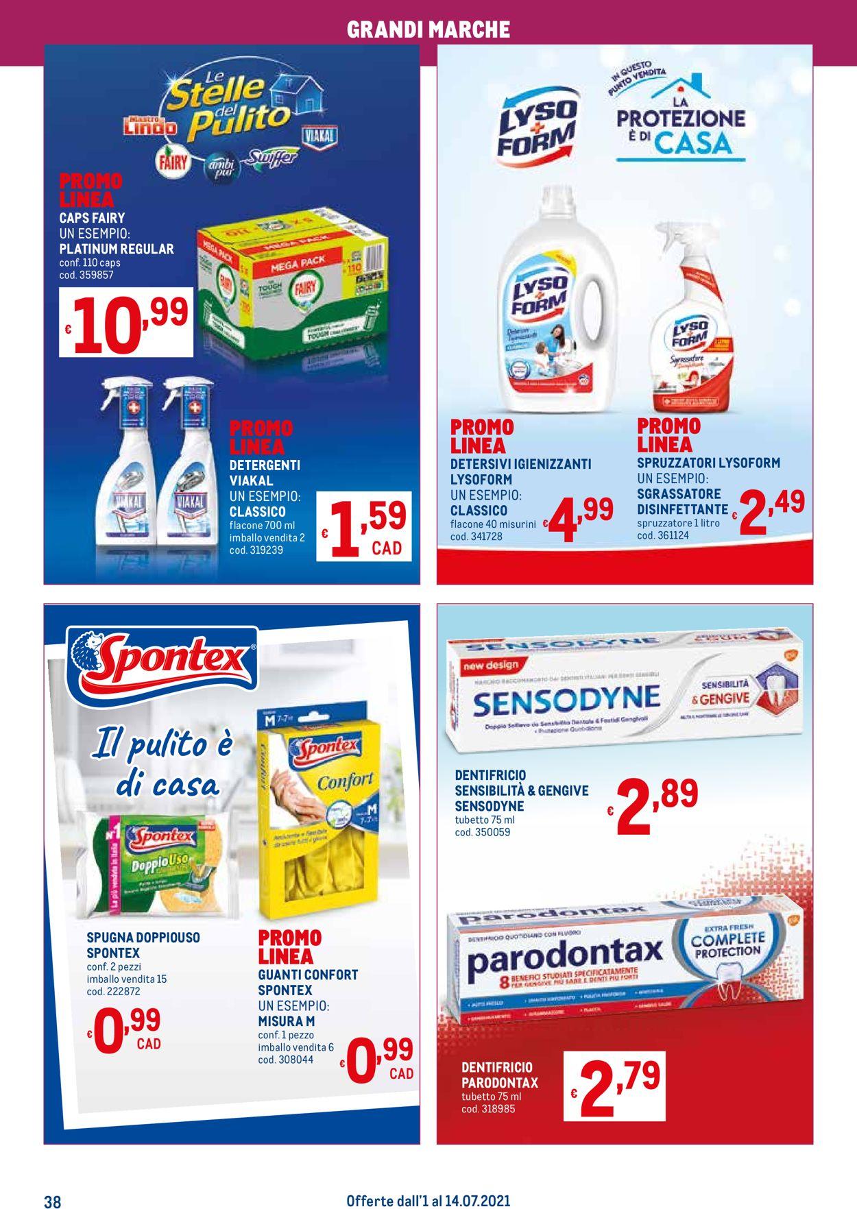 Volantino Metro - Offerte 01/07-14/07/2021 (Pagina 38)