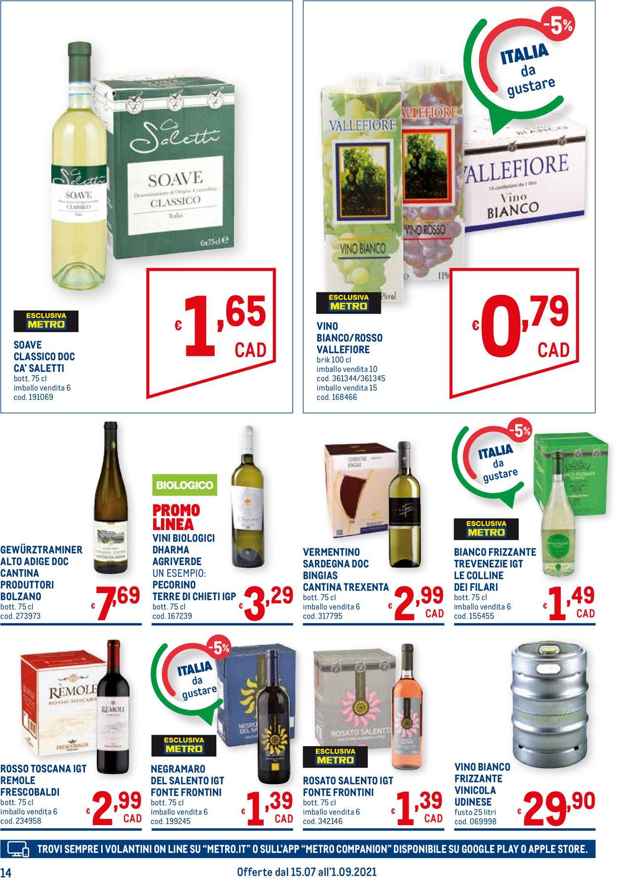 Volantino Metro - Offerte 15/07-01/09/2021 (Pagina 14)
