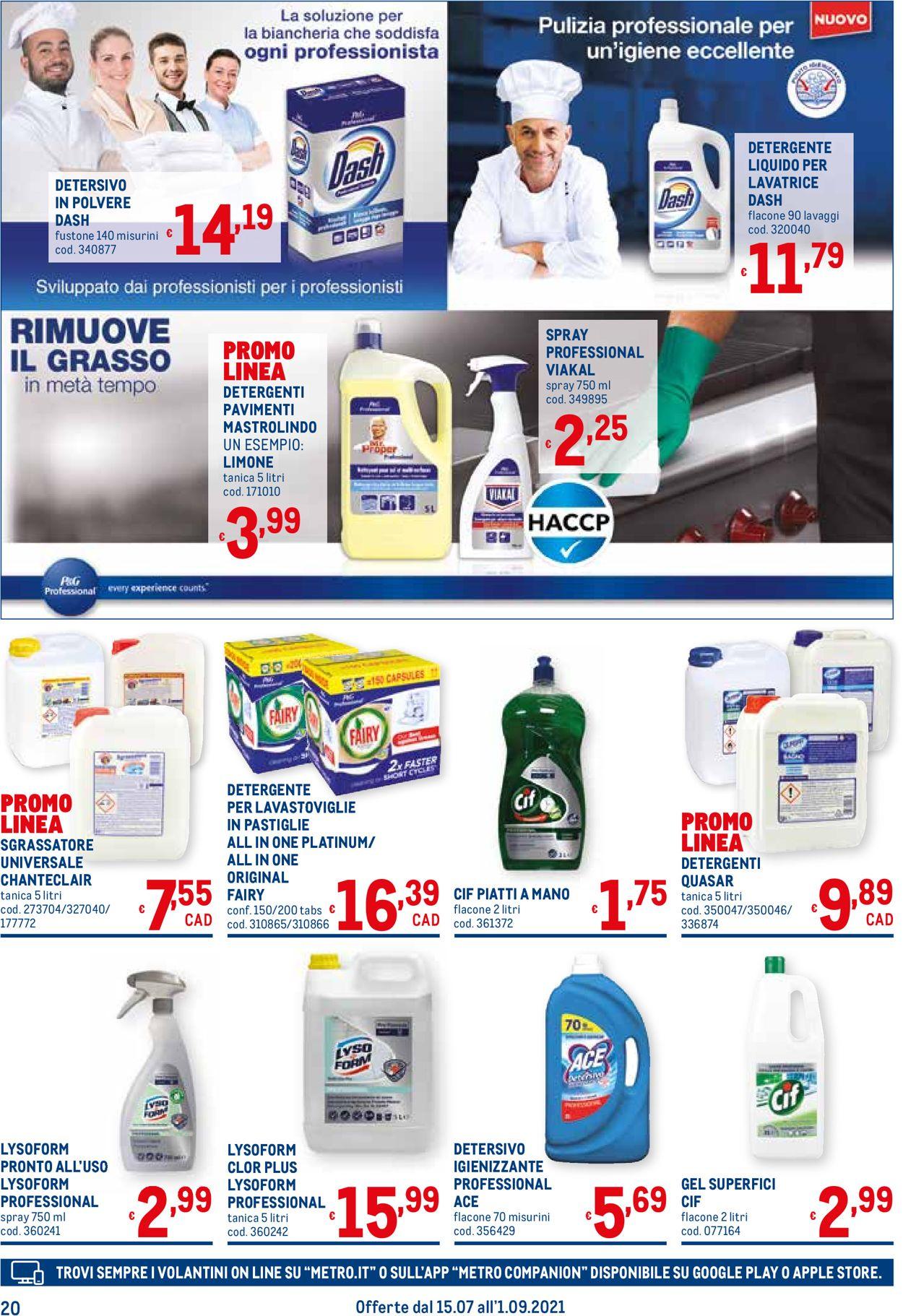 Volantino Metro - Offerte 15/07-01/09/2021 (Pagina 20)