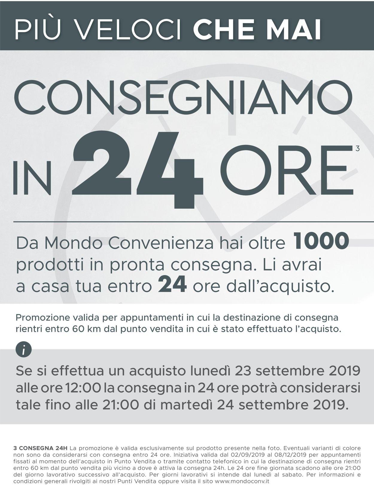 Volantino Mondo Convenienza - Offerte 01/09-08/12/2019 (Pagina 2)