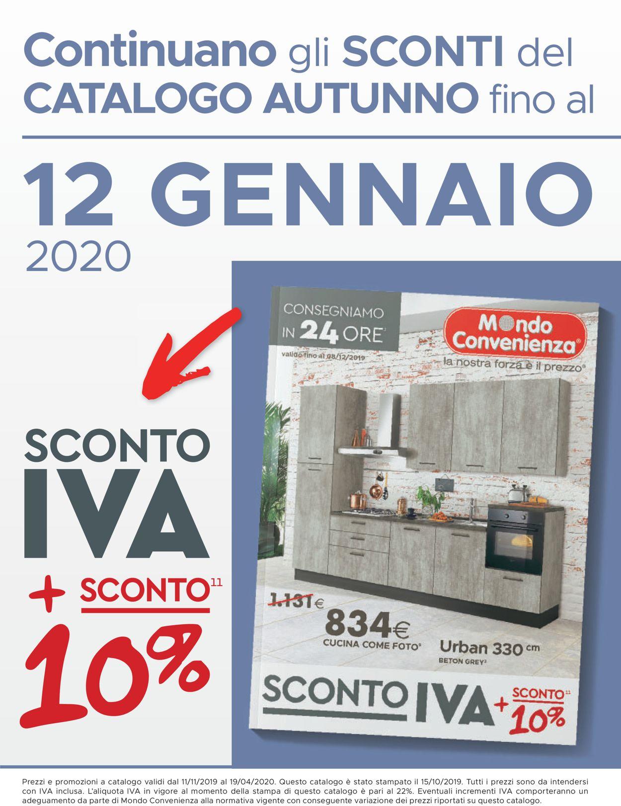 Volantino Mondo Convenienza - Offerte 11/11-19/04/2020 (Pagina 2)