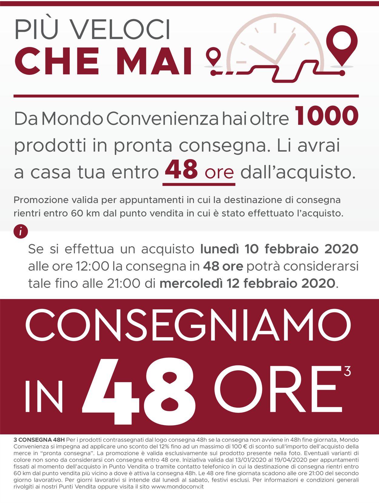 Volantino Mondo Convenienza - Offerte 13/01-19/04/2020 (Pagina 2)