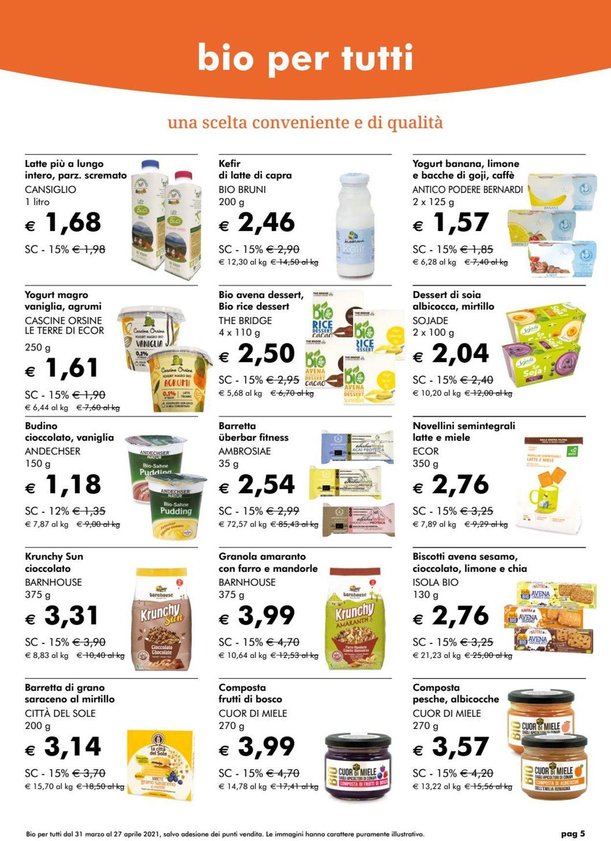 Volantino Natura Sì - Offerte 31/03-27/04/2021 (Pagina 5)