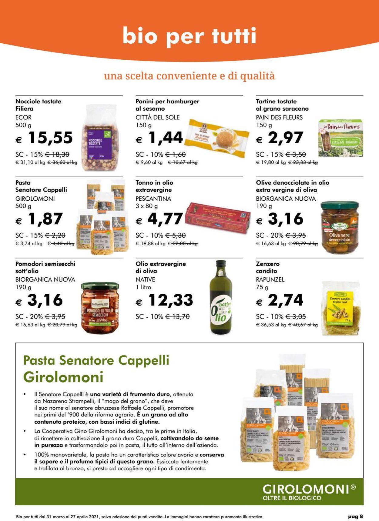 Volantino Natura Sì - Offerte 31/03-27/04/2021 (Pagina 8)