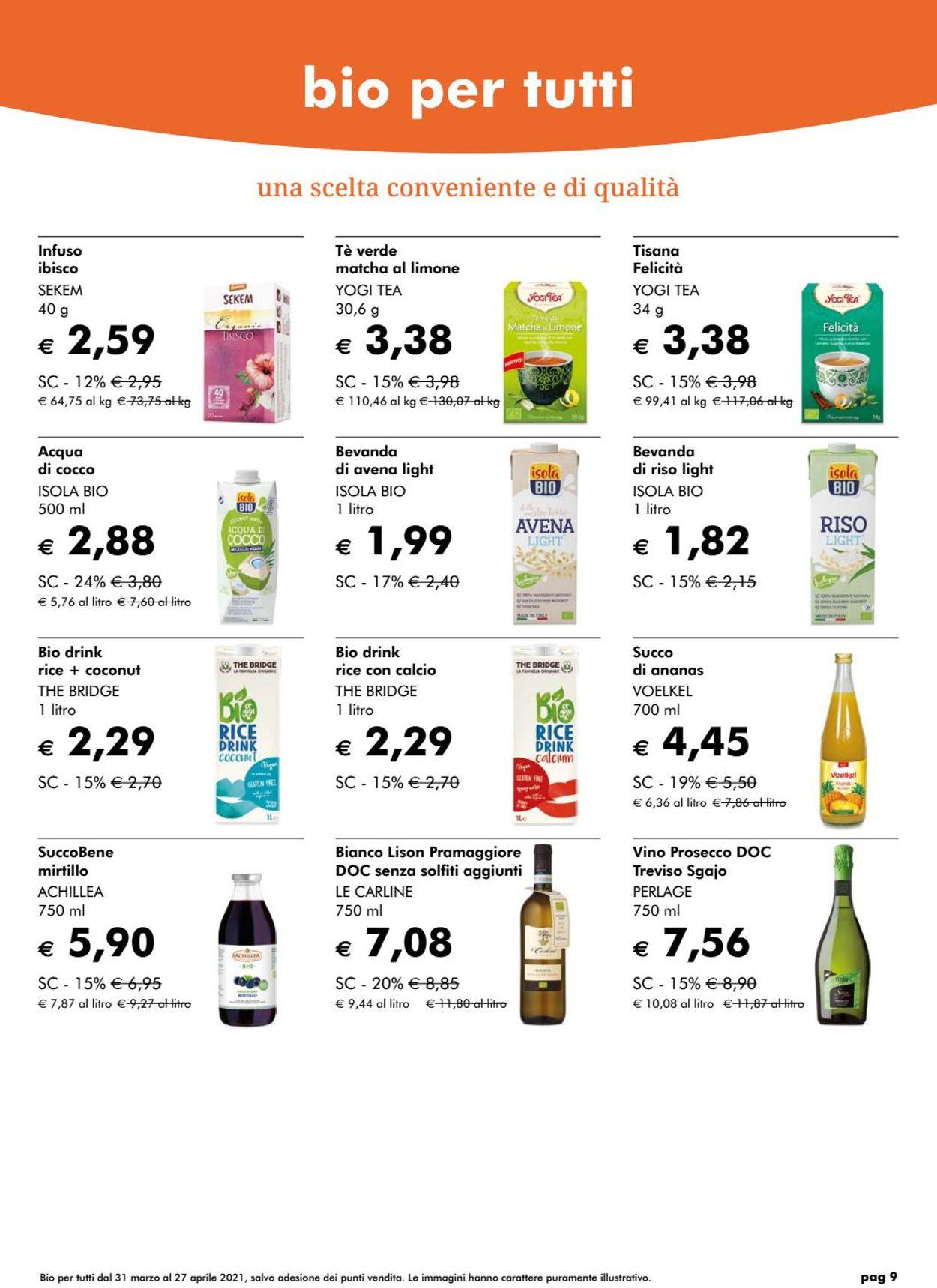 Volantino Natura Sì - Offerte 31/03-27/04/2021 (Pagina 9)