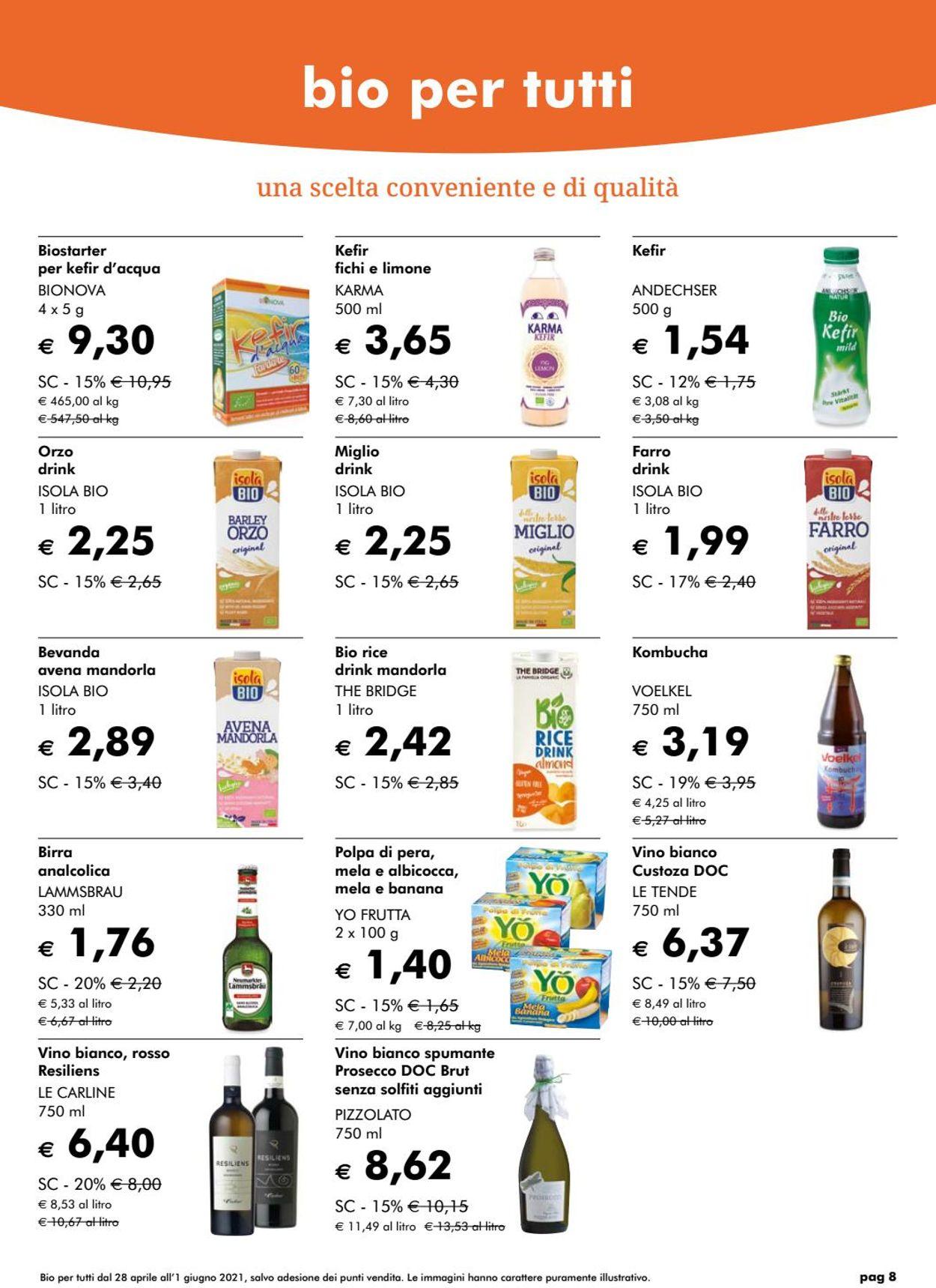 Volantino Natura Sì - Offerte 28/04-01/06/2021 (Pagina 8)