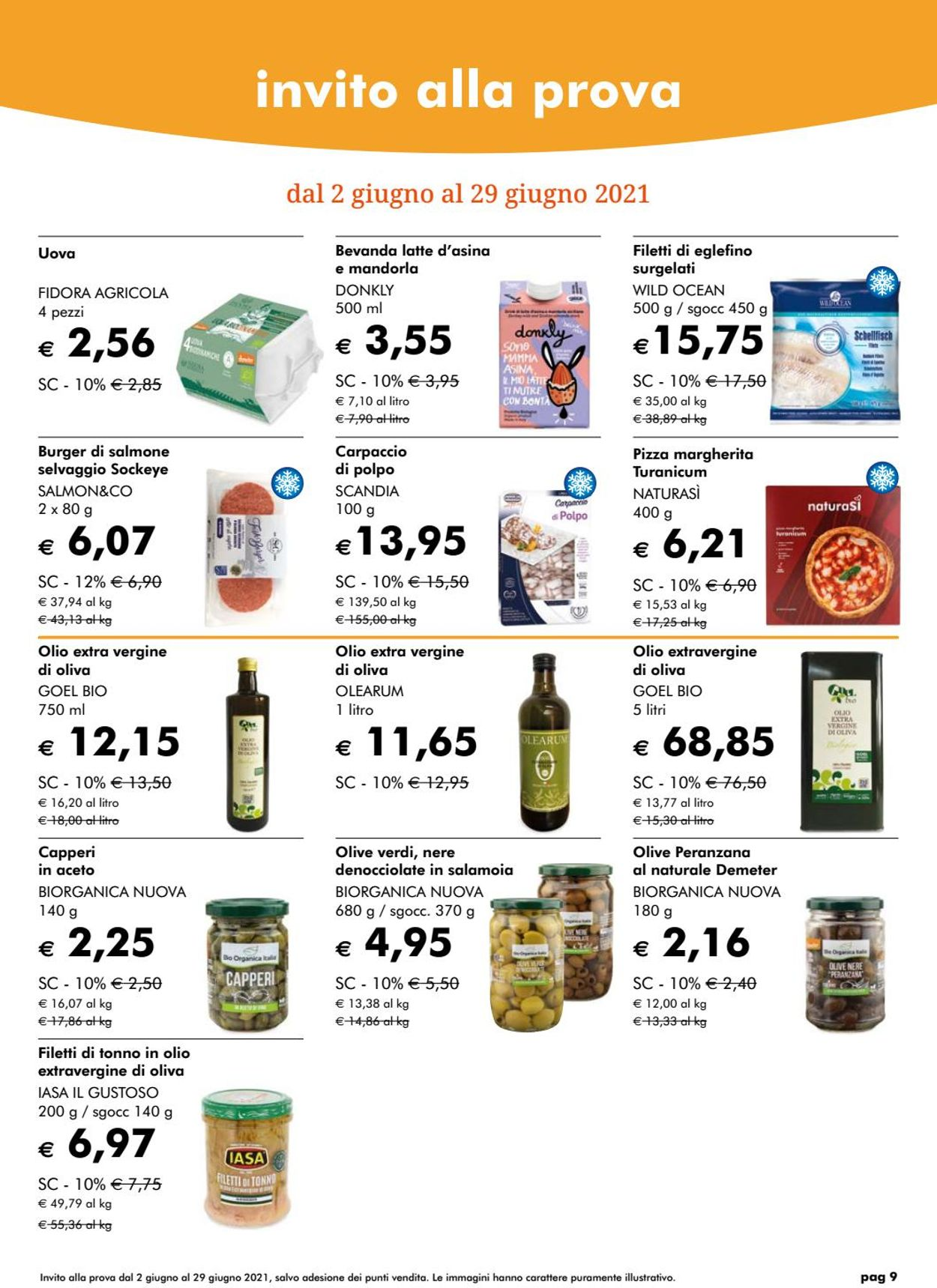Volantino Natura Sì - Offerte 01/06-30/06/2021 (Pagina 9)
