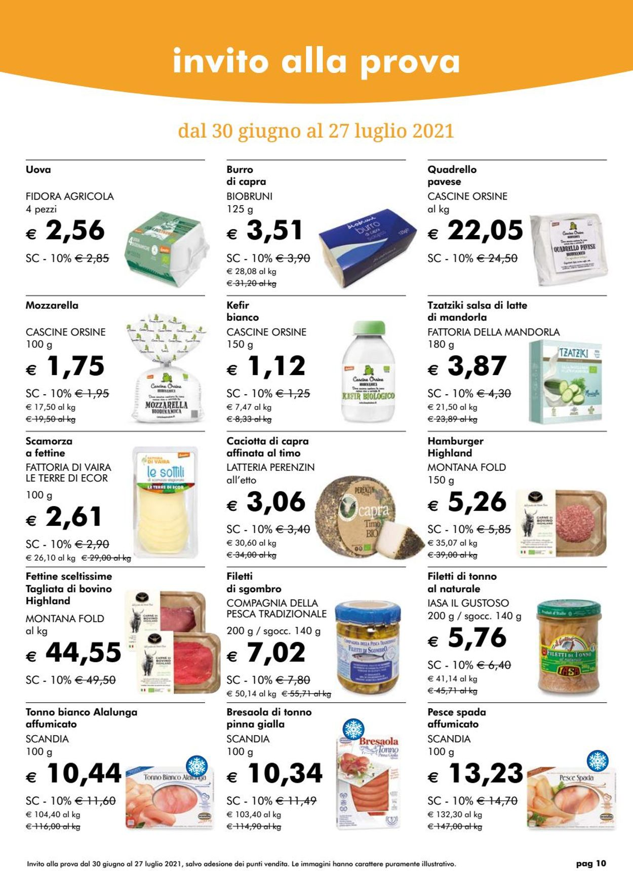 Volantino Natura Sì - Offerte 28/06-26/07/2021 (Pagina 10)