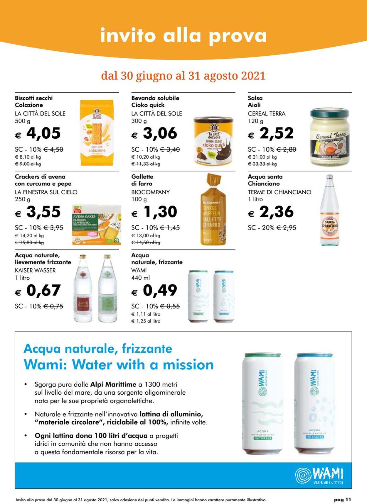 Volantino Natura Sì - Offerte 28/06-26/07/2021 (Pagina 11)