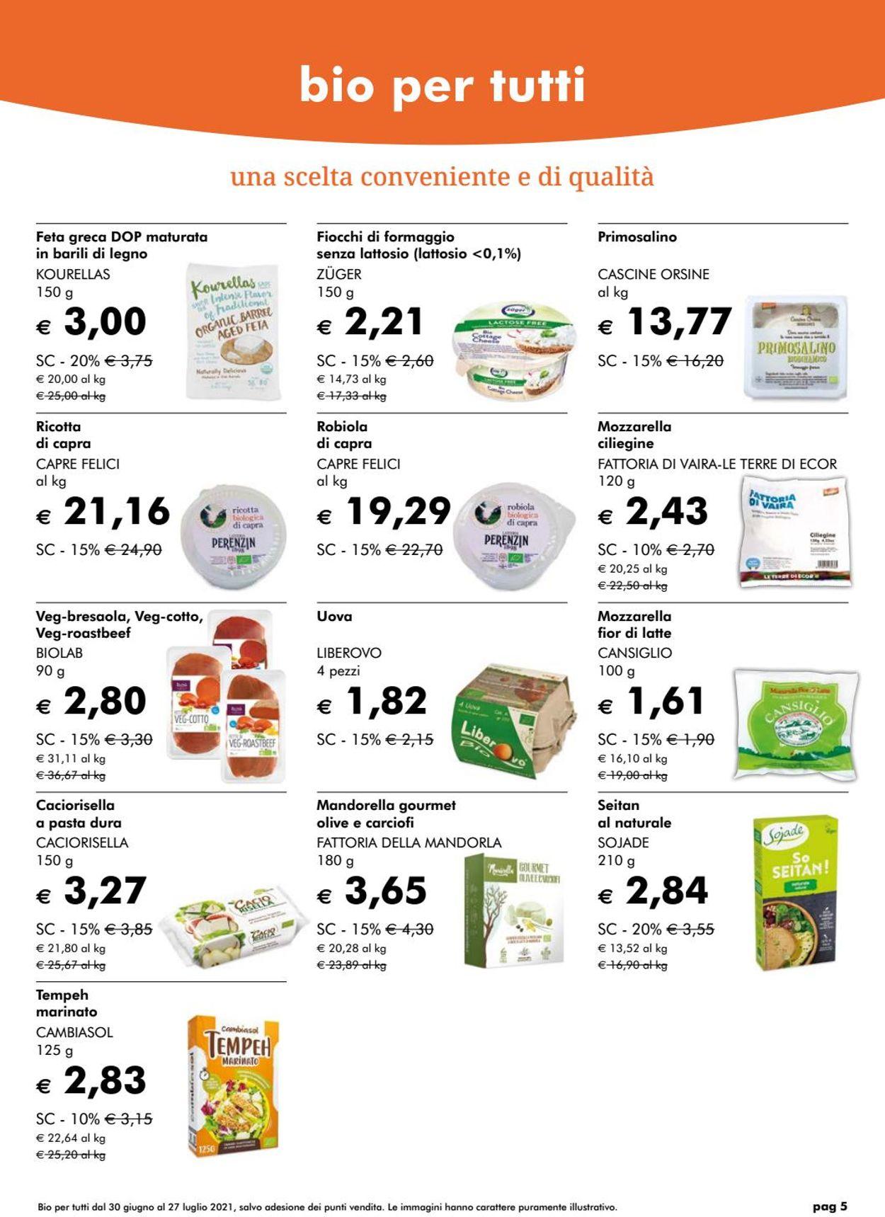 Volantino Natura Sì - Offerte 27/07-31/08/2021 (Pagina 5)