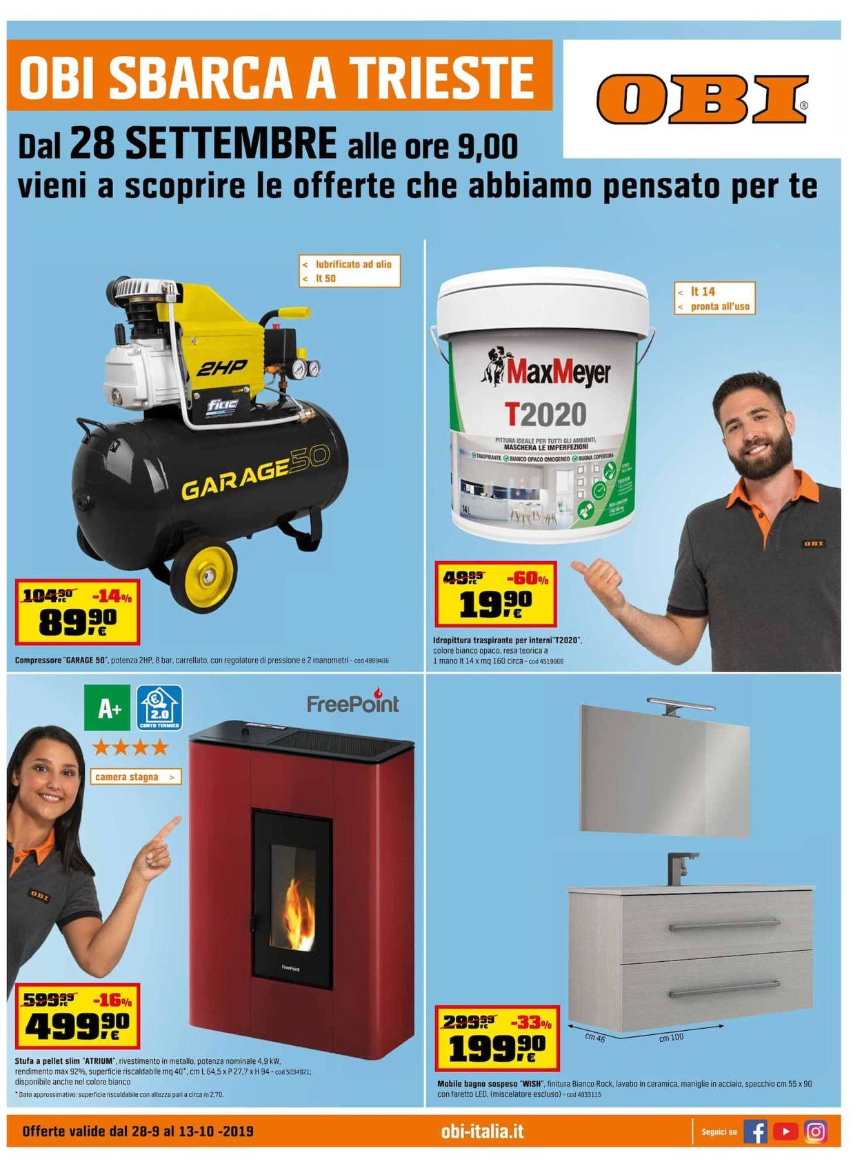 Volantino OBI - Offerte 28/09-13/10/2019