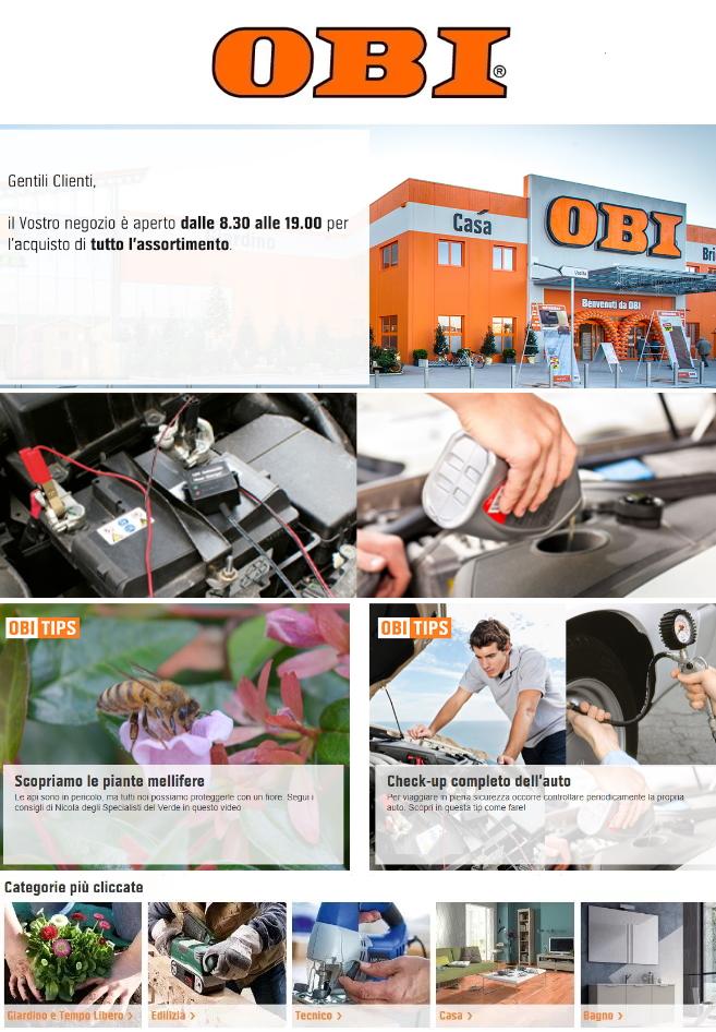 Volantino OBI - Offerte 18/06-30/06/2020