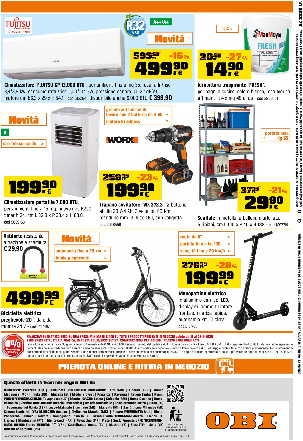 Volantino OBI - Offerte 09/07-26/07/2020 (Pagina 8)