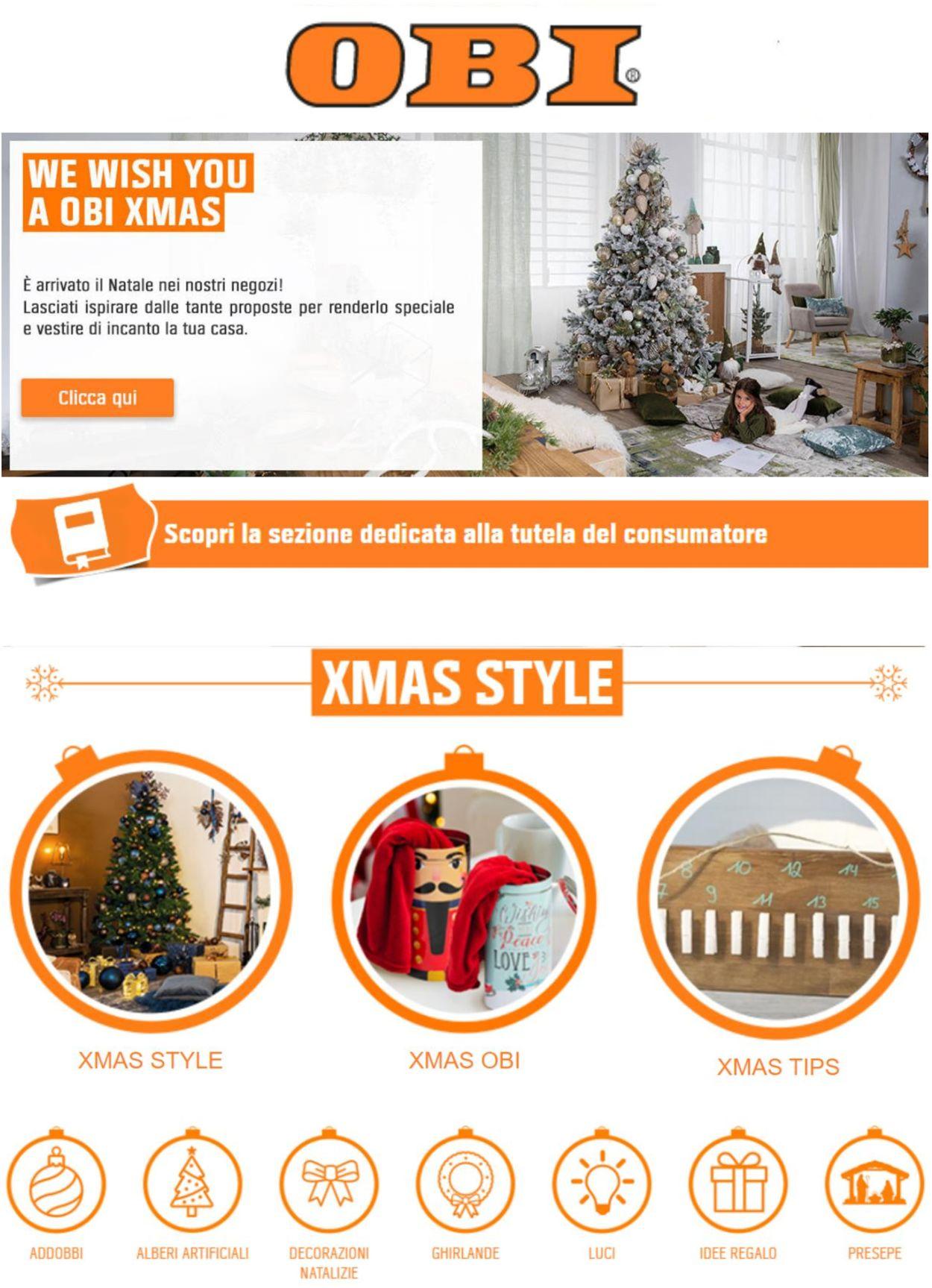 Volantino Il volantino natalizio di OBI 2020 - Offerte 23/11-02/12/2020