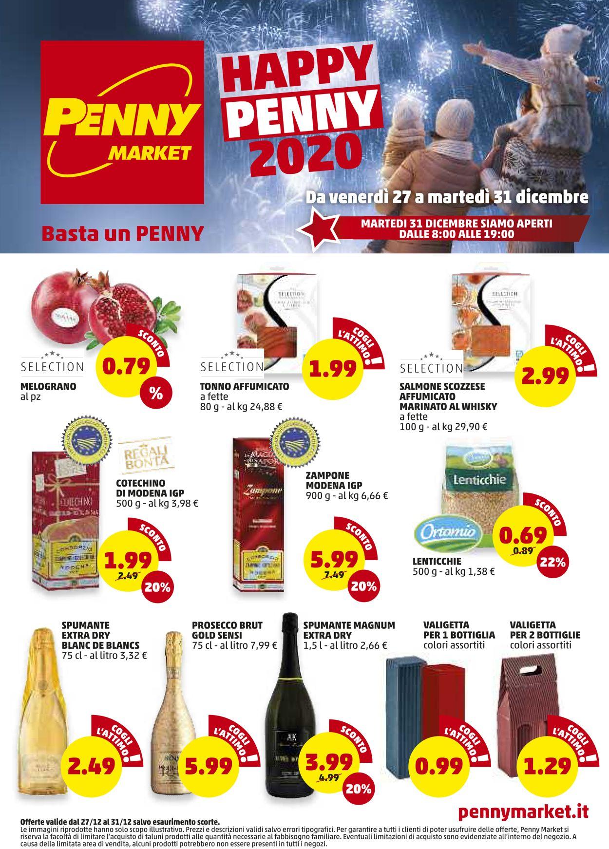 Volantino Penny Market - Offerte 27/12-31/12/2019
