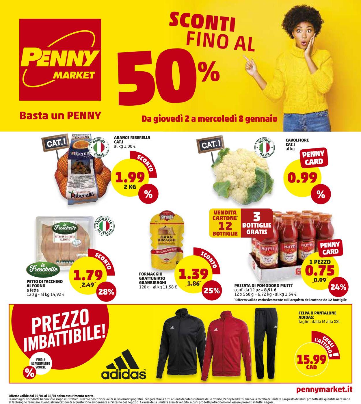 Volantino Penny Market - Offerte 02/01-08/01/2020