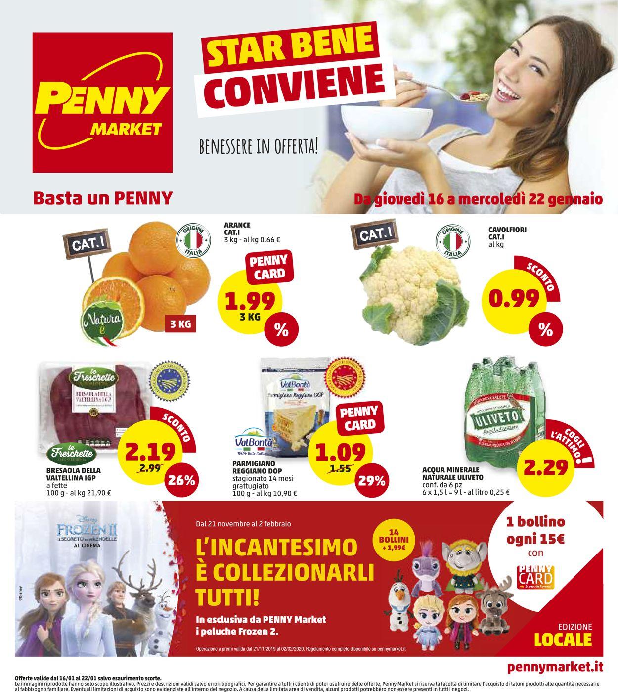 Volantino Penny Market - Offerte 16/01-22/01/2020