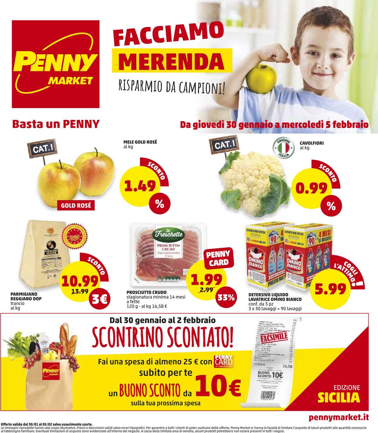 Volantino Penny Market - Offerte 30/01-05/02/2020