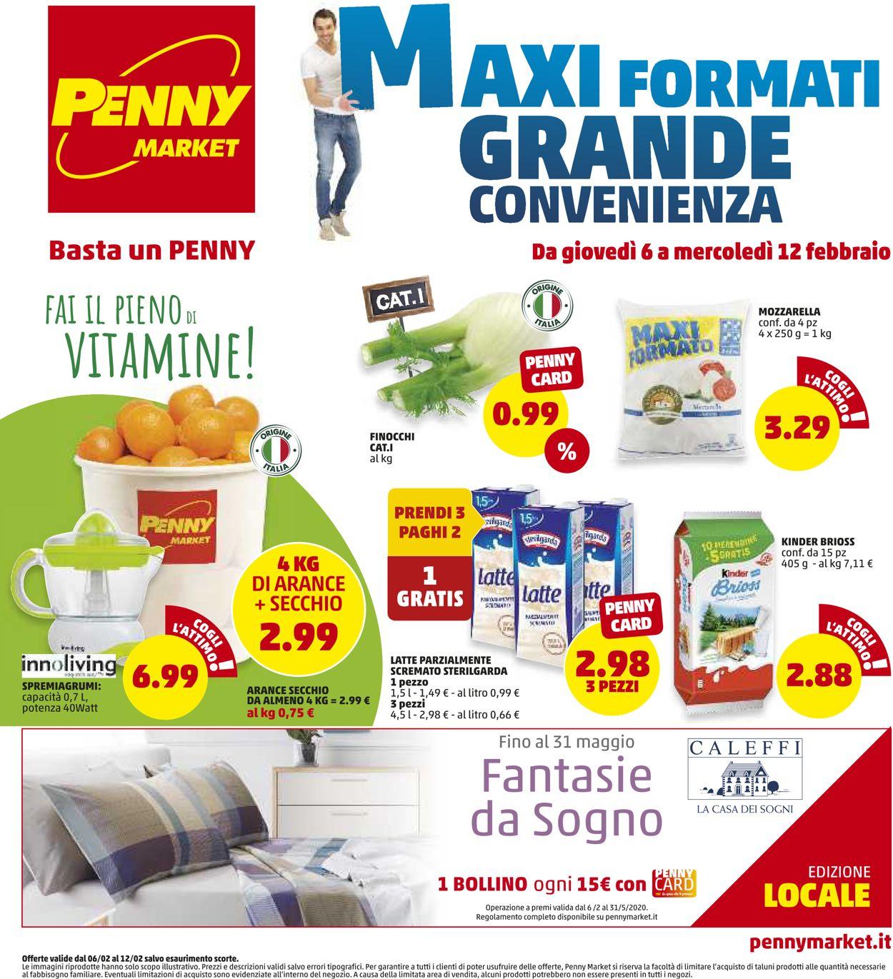 Volantino Penny Market - Offerte 06/02-12/02/2020