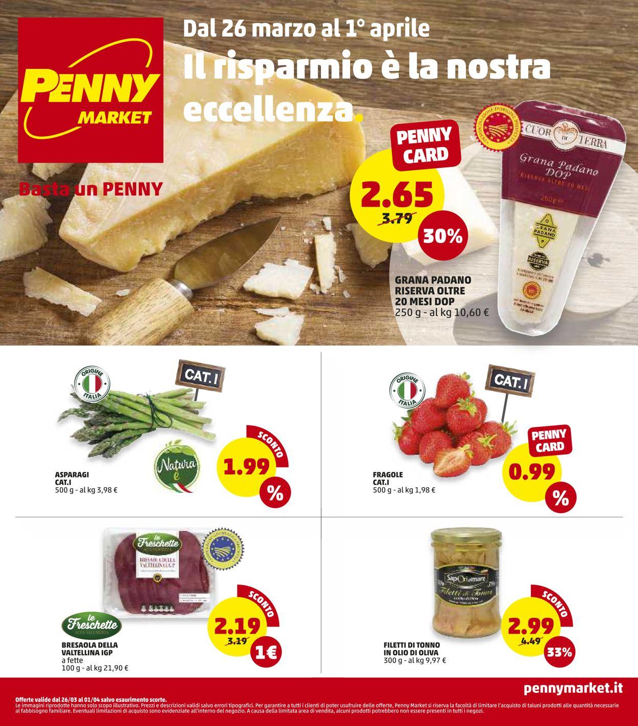 Volantino Penny Market - Offerte 26/03-01/04/2020