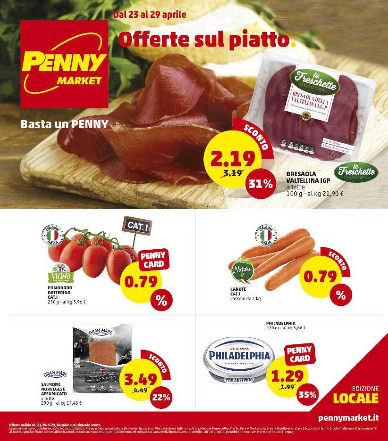 Volantino Penny Market - Offerte 23/04-29/04/2020