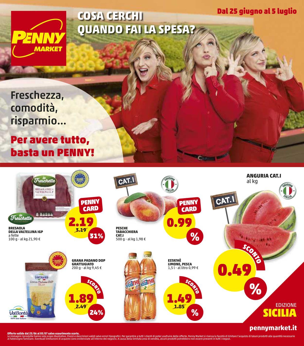 Volantino Penny Market - Offerte 25/06-05/07/2020