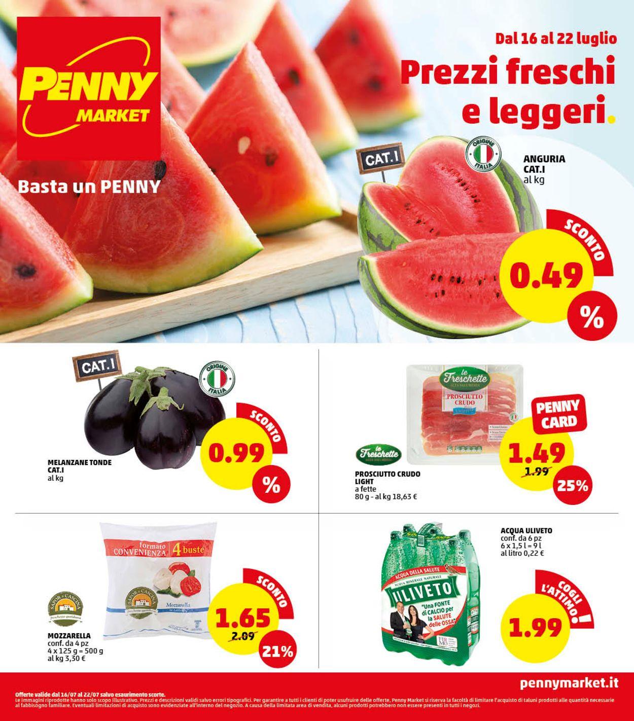Volantino Penny Market - Offerte 16/07-22/07/2020