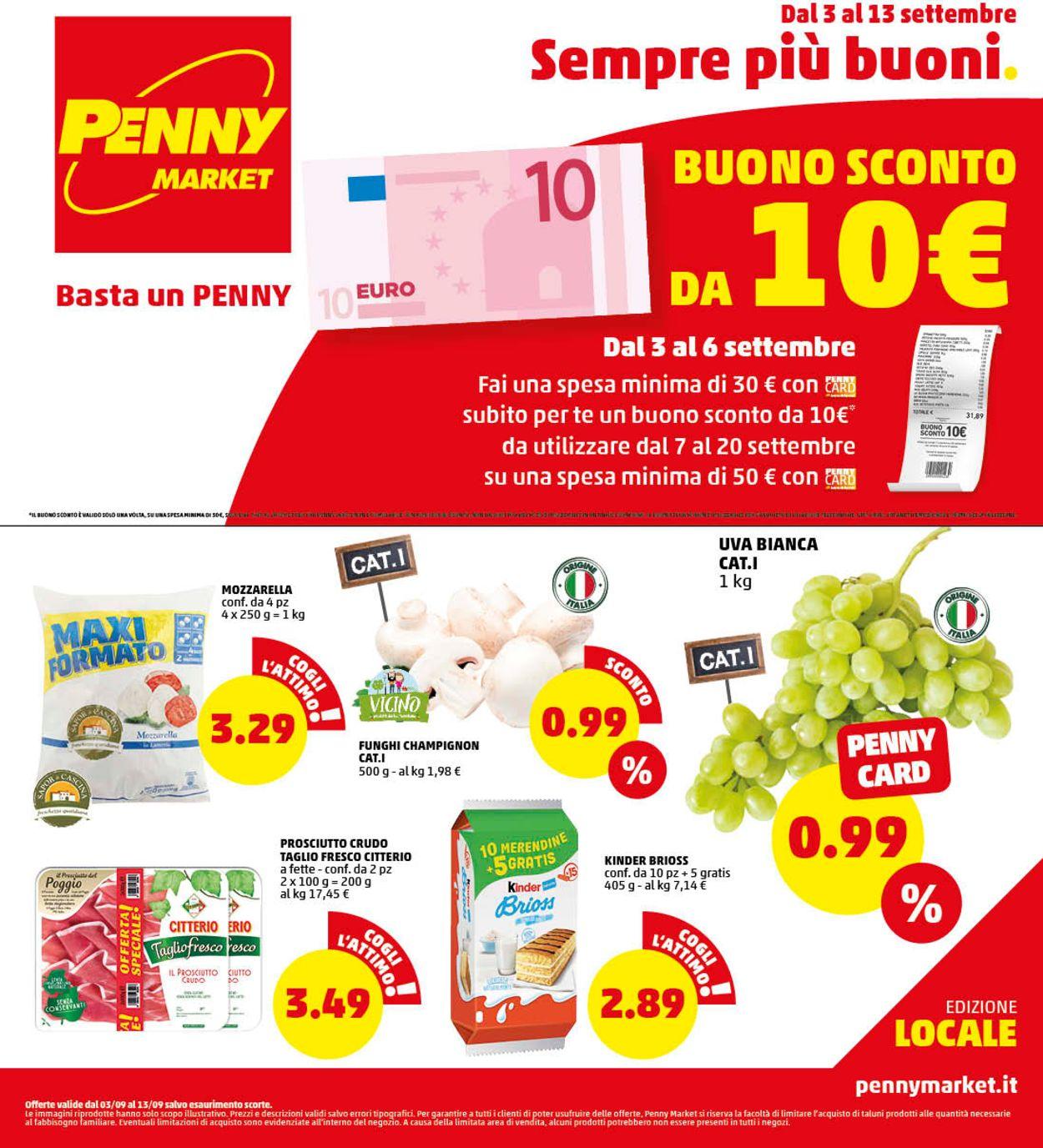 Volantino Penny Market - Offerte 03/09-13/09/2020
