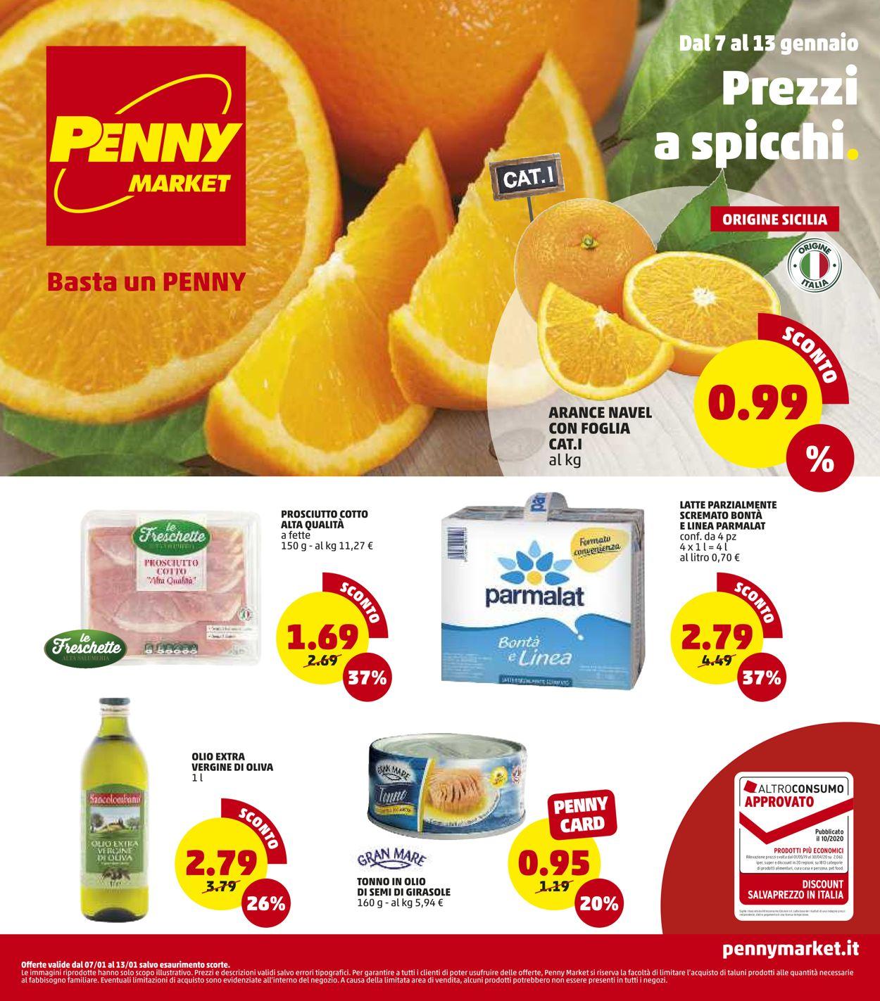 Volantino Penny Market - Offerte 07/01-13/01/2021