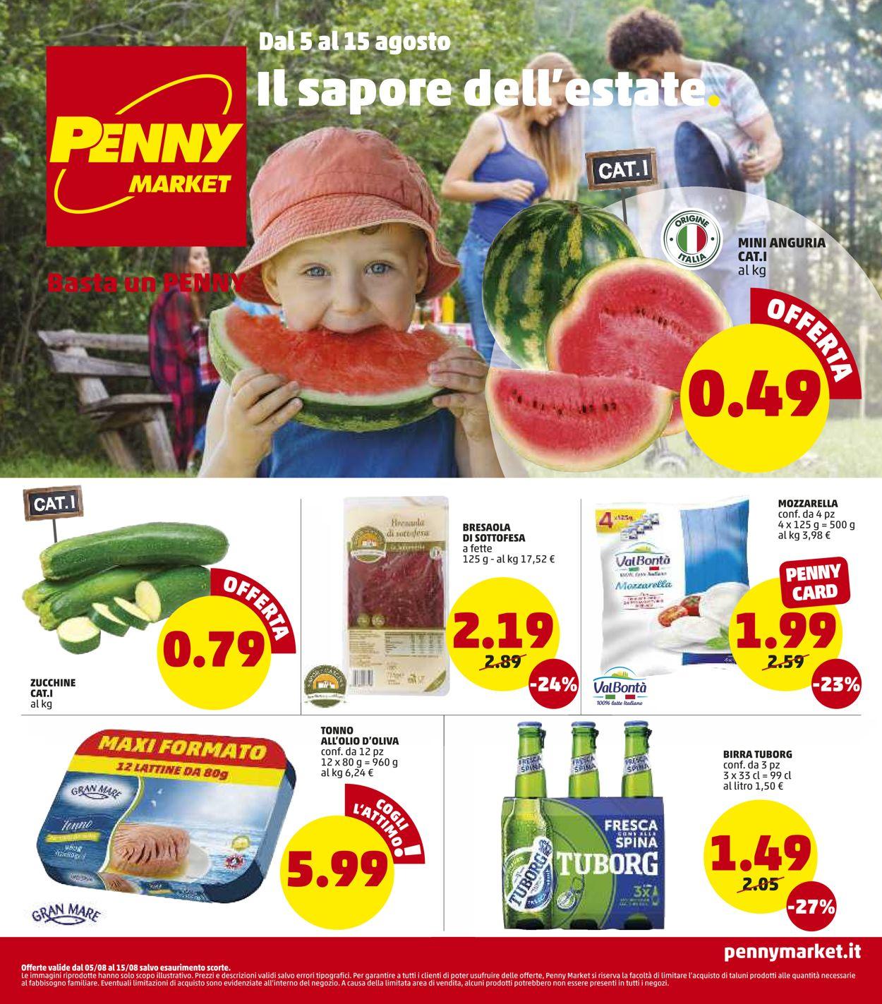 Volantino Penny Market - Offerte 05/08-15/08/2021