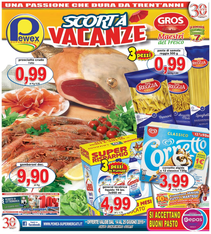 Volantino Pewex - Offerte 14/06-25/06/2019