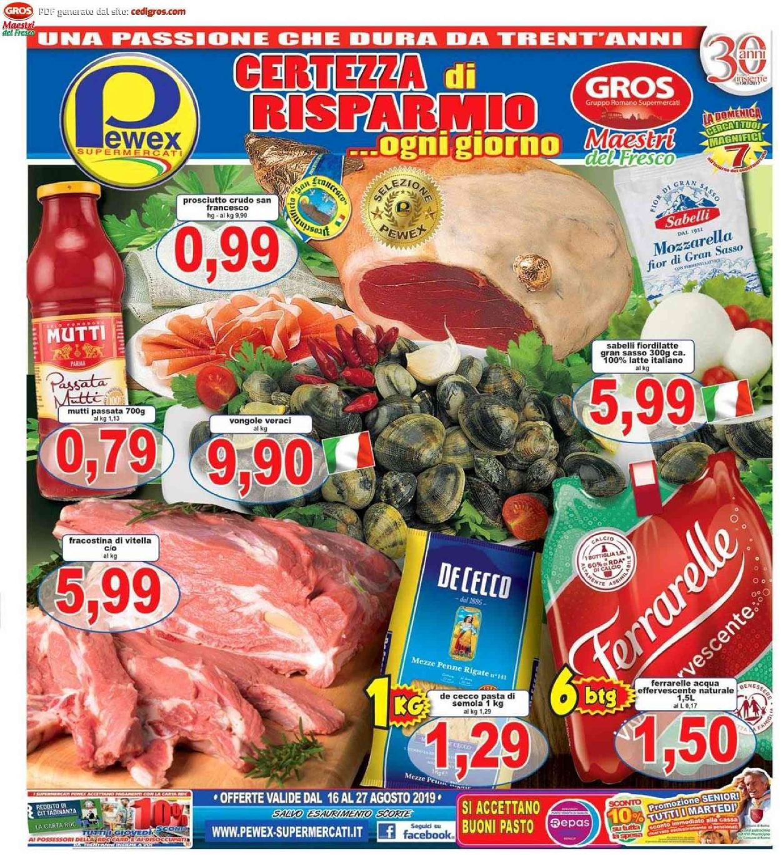 Volantino Pewex - Offerte 16/08-27/08/2019